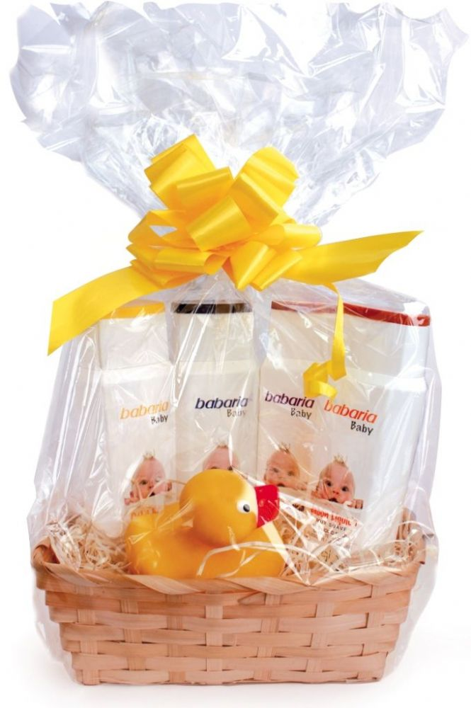 Babaria baby skin care cellophane wrapped gift basket negle Image collections